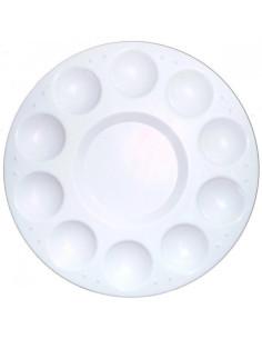 Paleta plástica redonda para pinturas