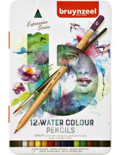 Lápices acuarelables Bruynzeel 12 colores