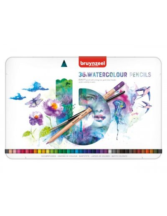 Lápices acuarelables Bruynzeel 36 colores