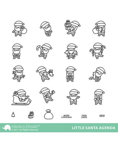 Mama Elephant sello Little Santa agenda