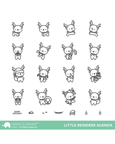 Sello Little Reindeer agenda de ME