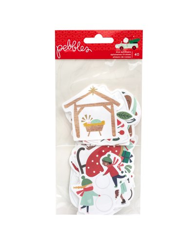 Die Cuts Pebbles, Merry Little Christmas