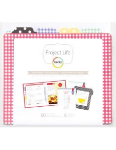 Project Life relleno+divisores, recetario