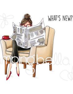 Sello Stampingbella Uptown Girl Nancy Reads The Newspaper