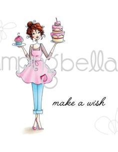 Sello Stampingbella Edna With A Cupcake On Top