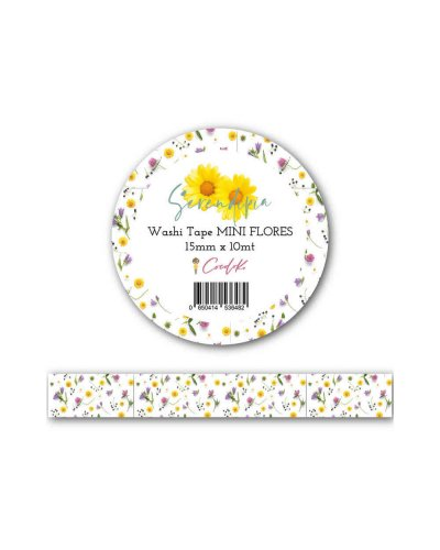 "Washi Tape ""Flores Minis"" (15 mm x 10 m) Serendipia Cocoloko"