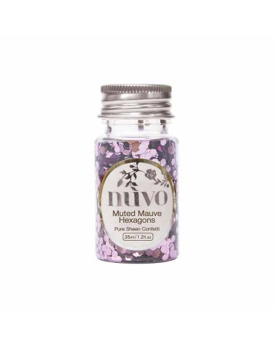 "Nuvo, Confetti ""Muted Mauve"" Hexágonos"
