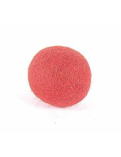 Fieltro de lana bola rojo. 10 cm diametro. 50 uds. Adorno Innspiro.
