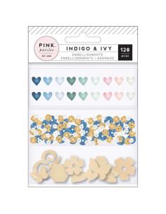 Set de adornos Indigo & Ivy, de Pink Paislee.