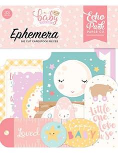 Die-cuts Echo Park, Hello Baby Girl, Ephemera