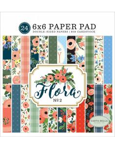 Kit Papeles 6x6 Carta Bella, Flora nº2