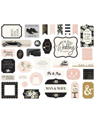 Die-cuts Echo Park, Wedding Day, Ephemera