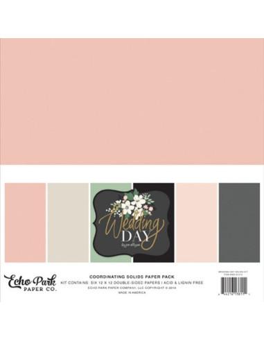 Kit 12´ Echo Park I Am Mom, colores sólidos