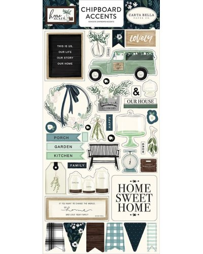 "Chipboard 6x13"", Carta Bella, Home Again"