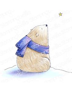 Sello Stampingbella Polar Bear, wishing upon a star