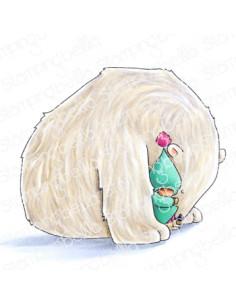 Sello Stampingbella Bundle girl wrapped in polar bear