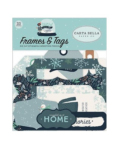 Tags and frames Carta Bella, Snow Much Fun