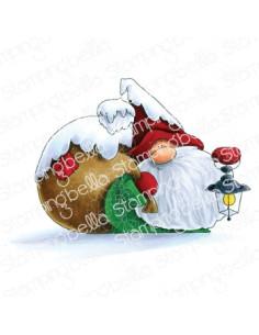 Sello Stampingbella Gnome with a lantern