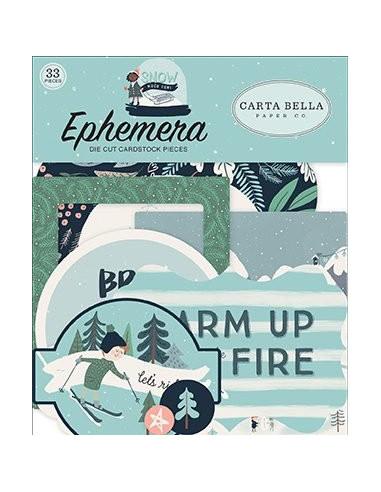 Die-cuts Carta Bella, Snow Much Fun, Ephemera