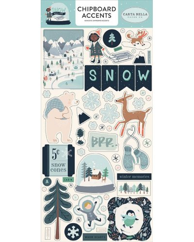 "Chipboard 6x13"", Carta Bella, Snow Much Fun"
