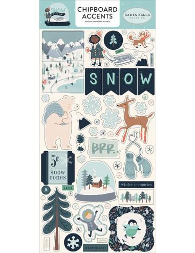"Chipboard 6x13"", Carta Bella, Snow Much Fun"