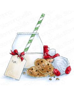 Sello Stampingbella Milk and cookies Gnome
