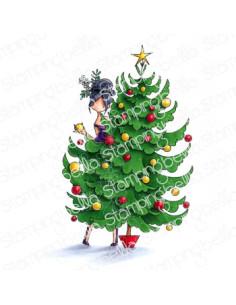 Sello Stampingbella Curvy girl and her tree