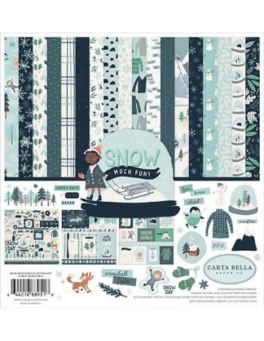 Kit 12´ Carta Bella, Snow Much Fun