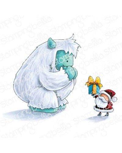 Sello Stampingbella Yeti and Santa
