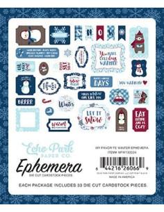 Die-cuts Echo Park, My Favorite Winter, Ephemera