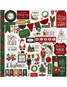Pegatinas Echopark, Here Comes Santa Claus