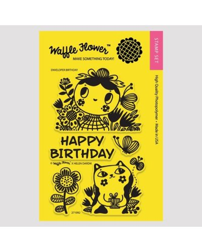 Sello Waffle-Flower Enveloper Birthday