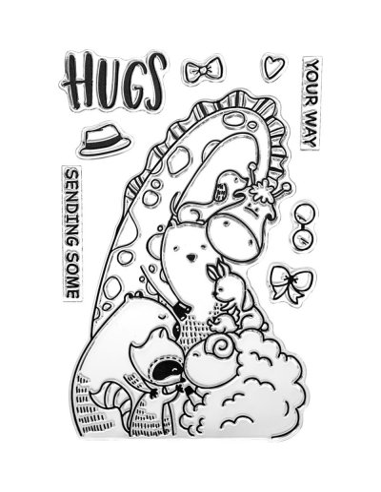 Sello Waffle-Flower Group Hug