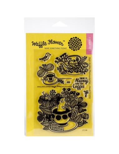 Sello Waffle-Flower Enveloper Cofee