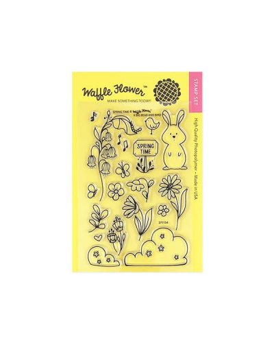 Sello Waffle-Flower Spring Time