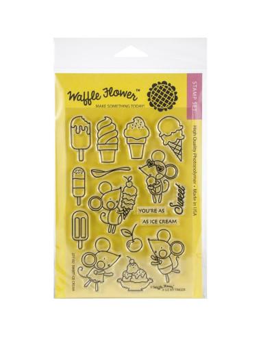 Sello Waffle-Flower Ice Cream