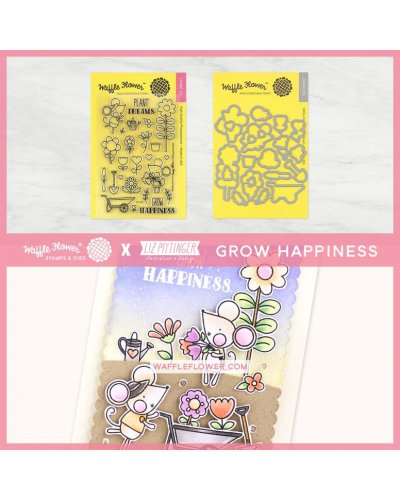 Sello Waffle-Flower Grow Happines