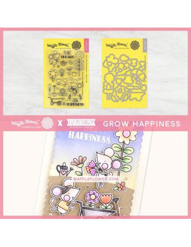 Sello Waffle-Flower Grow Happines
