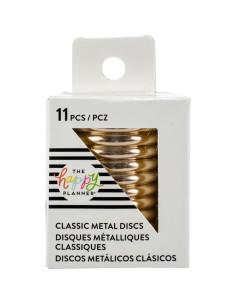 """Happy planner anillas metálicas Gold 1,75"""""""