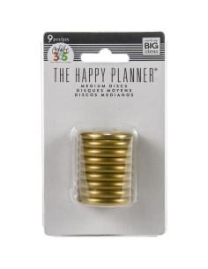 """Happy planner anillas doradas 1,25"""""""