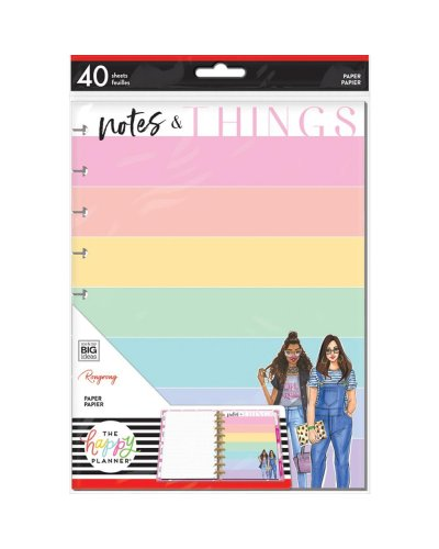 Happy planner Hojas relleno, Notes & Things