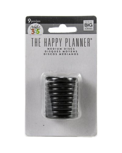 Happy planner anillas negras 1,25""