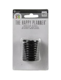 "Happy planner anillas negras 1,25"""