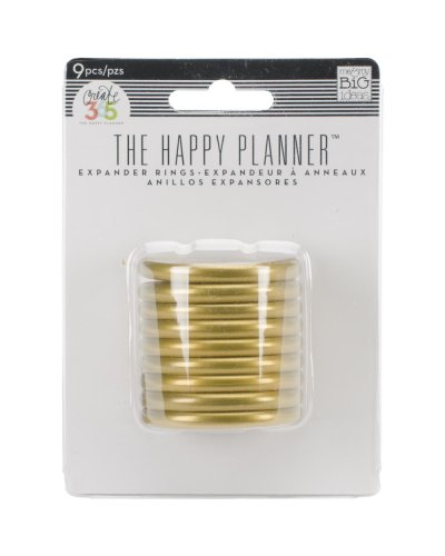 Happy planner anillas doradas 1,75""