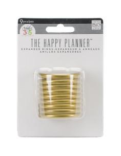 """Happy planner anillas doradas 1,75"""""""