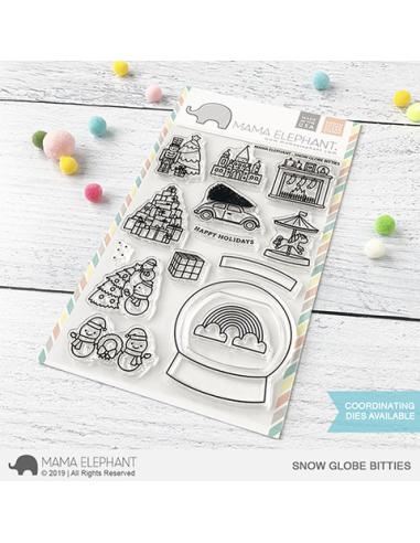 Mama Elephant sello Snow Globe Bitties
