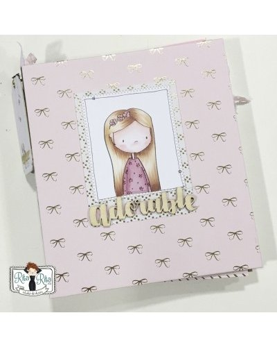 Adorable scrapbook anual SOLO TUTORIAL