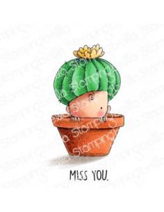 Sello Stampingbella cactus baby