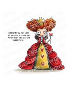 Sello Stampingbella Oddball queen of hearts