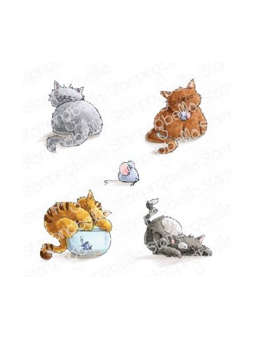 Sello Stampingbella set oj Kittens